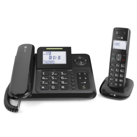 Doro Comfort 4005 Corded/Cordless COMBO PHONE WITH ANSWER MACHINE BLACK