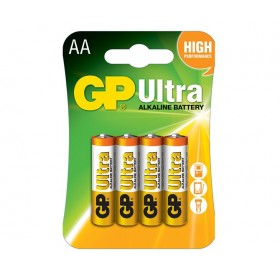 GP 15AU  Ultra Alkaline Battteries (AA) - 4 Pack
