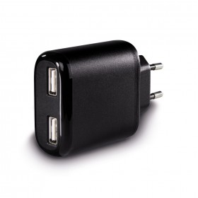 Hama 00123539 Auto-Detect 2-Port USB Charging Adapter for Tablet PCs, 5 V/3.4 A - black