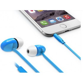 iLuv PPMINTSBL peppermint Talk Tangle free stereo Headphones with microphone , blue