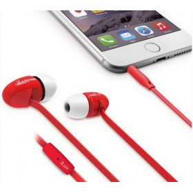 iLuv PPMINTSRD peppermint Talk Tangle free stereo Headphones with microphone , Red