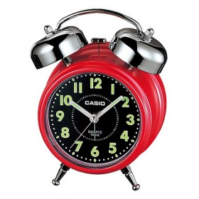 CASIO TQ-362-4ADF ANALOGE CLOCK, RED-BLACK DIAL