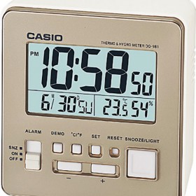 CASIO DQ-981-9DF DIGITAL CLOCK, CHAMPAGNE GOLD
