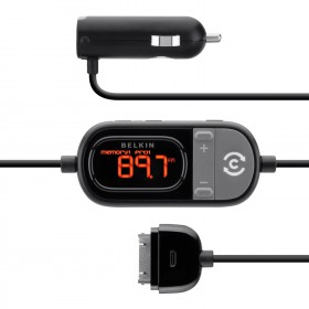 Belkin TuneCast Auto Live Hands-Free (with Lightning Connector) Charge and Play for iPhone 5 and 5s