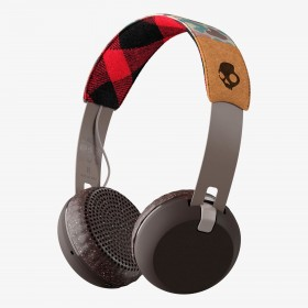 Skullcandy S5GBW-J552 Grind Bluetooth Wireless On-Ear Headphones with Built-In Mic and Remote, Pine/Mustard/Pink