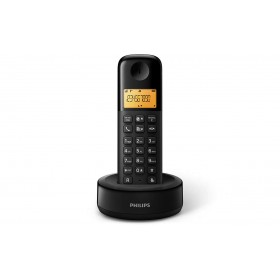 Philips D1301B/90 CORDLESS PHONE 1.6 inch DISPLAY/ AMBER BACKLIGHT, BLACK
