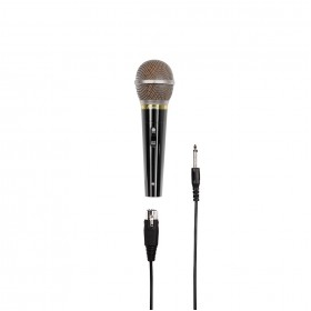 Hama 00046060 DM 60 Dynamic Microphone, 6.35 mm Jack Plug/XLR