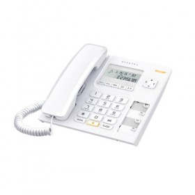 ALCATEL T56 PHONE WITH CALLER ID, WHITE