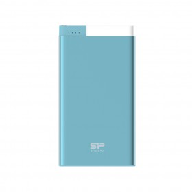 SILICON POWER SP5K0MAPBKS55P0B POWER BANK POLYMER S55 5000 MAH LIGHTNING, BLUE