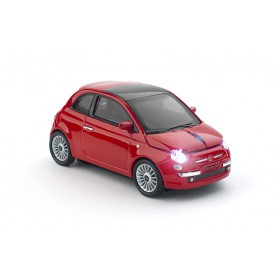 Click Car CCM660493 Mouse FIAT 500 Wireless Optical Mouse, Red