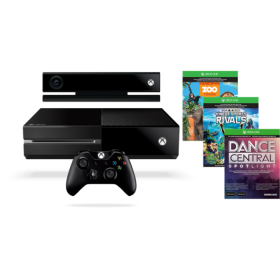 Microsoft XBOX ONE CONSOL X19-95393-01 WITH KINECT+ KSR,ZOO,DANCE CENTRAL