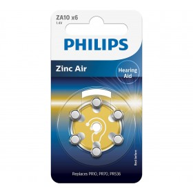 Philips ZA10B6A/10 Minicells Battery ZA10B6A 10/230 Zinc-air