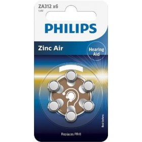 Philips ZA312B6A/10 Minicells Battery ZA312B6A Zinc-air