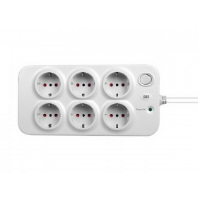 "SBS Surge Protector ""BASIC"" 6 outlet 7.5A WHITE SP3320S"