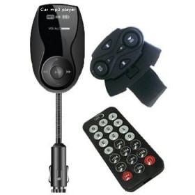 راديو شاك ناقل إشارة إف إم(RADIOSHACK B-228N CAR FM TRANSMITTER WITH STEERING REMOTE CONTROL)