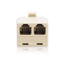 راديو شاك(RadioShack® 4-Pin 1-to-2-Line Adapter (Ivory))موزع تليفون