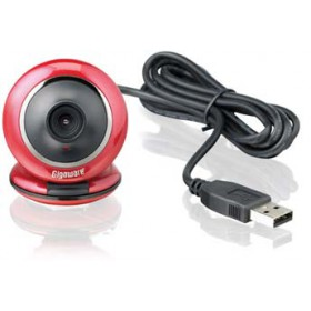 Gigaware (Red) 1.3MP Webcam with Mic