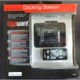Gigaware™ iPod® & iPhone Audio/Video Docking Station