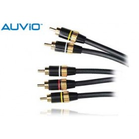 AUVIO® 6-Ft. Video RCA Stereo Audio to Video RCA Mono Audio