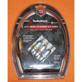 RadioShack 6 FT STEREO MONO CABLE