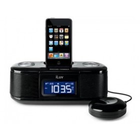 iLuv Vibro I Desktop Alarm Clock with Bed Shaker for your iPod (Black)