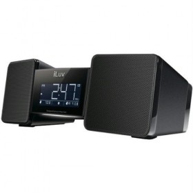 iLuv IMM157BLK VibroBlue Bluetooth Wireless Speaker and Vibrating Bed Shaker Alarm (Black)